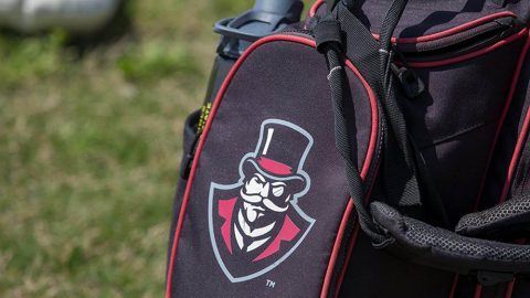Austin Peay Men's Golf coach Robbie Wilson signs Micah Knisley and Jordan Rodriguez for next season. (APSU Sports Information)