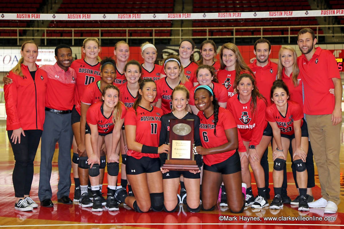 Austin Peay Women's Volleyball earns share of OVC Regular Season Title with sweep of SEMO Saturday afternoon at the Dunn Center.