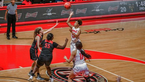 Austin Peay Women's Basketball comes from behind in the second half to beat Christian Brothers 73-50 Tuesday night at the Dunn Center. (APSU Sports Information)