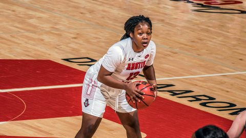 Austin Peay Women's Basketball senior point guard Bri Williams had 17 point in win over Trevecca. (APSU Sports Information)