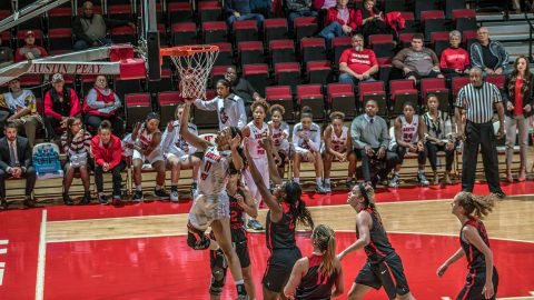 Austin Peay Women's Basketball gets 71-63 road win against Lipscomb Sunday at Allen Arena. (APSU Sports Information)