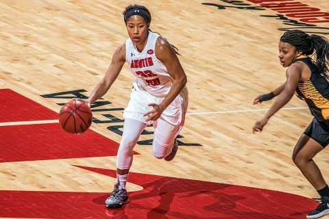 Austin Peay Women's Basketball beat Arkansas-Pine Bluff 97-61 Wednesday night at the Dunn Center. (APSU Sports Information)
