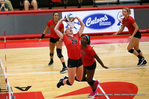 Austin Peay Volleyball plays Murray State at the Dunn Center in the Heritage Bank Battle of the Border, Wednesday.