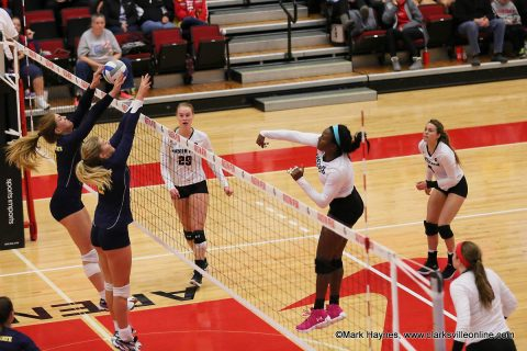 Austin Peay Women's Volleyball senior Ashley Slay had 17 kills in loss to Murray State Wednesday night at the Dunn Center.