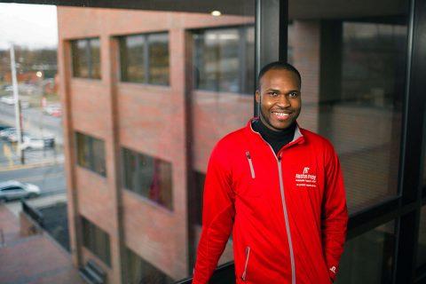 APSU graduate student Emmanuel Mejeun