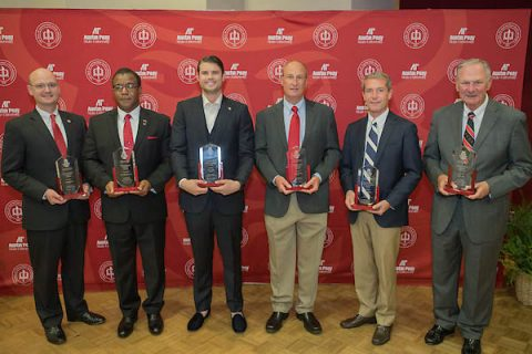 APSU honored six individuals during a special alumni awards ceremony on October 21st.
