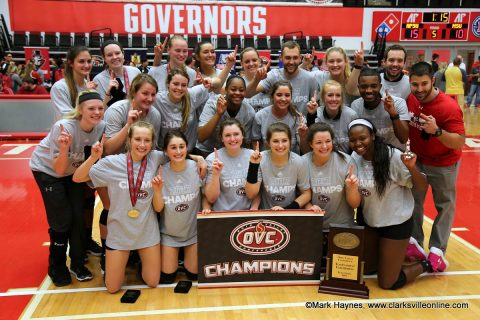 Austin Peay Volleyball are the 2017 OVC Tournament Champions.