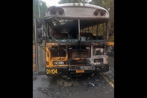Clarksville-Montgomery County School Bus catches fire early Thursday morning. 20 students were evacuated and no one was injured.