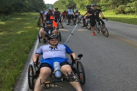 "Sgt. 1st Class John Dvorak leads ""the pack"" during a routine bike ride at Fort Campbell Kentucky. (Anthony Perry)"