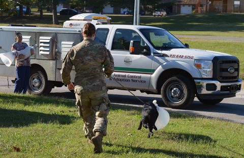 The 72nd Medical Detachment Veterinary Service Support is working with Montgomery County Animal Care and Control to save animals in the community.