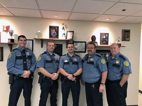 A few Montgomery County Sheriff's Deputies who are participating in No-Shave November on their second day of hair growth.