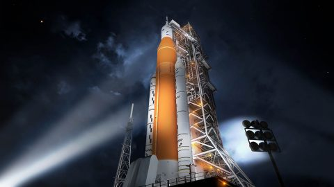 NASA plans December 2019 launch date for the Space Launch System (SLS) rocket and the Orion spacecraft. (NASA)