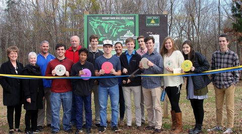 Clarksville Academy students partnered with Montgomery County Parks and Recreation to complete Phase II of the Rotary Park Disc Golf Project.