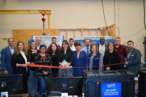 Ribbon cutting for the launch of Operation Next.