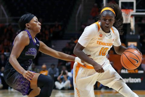 Tennessee Women's Basketball rolls to 77-34 win over Central Arkansas Thursday night at Thompson-Boling Arena. The Lady Vols record is now 7-0 on the season. (Tennessee Athletics)