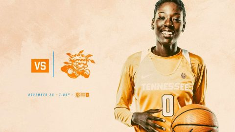 Tennessee Women's Basketball hosts Wichita State Monday at 6:00pm CT. (Tennessee Athletics)