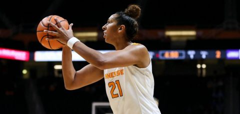 Tennessee Lady Vols senior center Mercedes Russell had 17 points and 15 rebounds in win over Purdue Thursday night. (Tennessee Athletics)