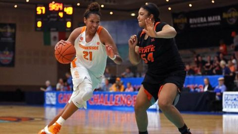 Tennessee Lady Vols center Mercedes Russell has 25 points and 8 rebounds in victory over Oklahoma State. (Tennessee Athletics)