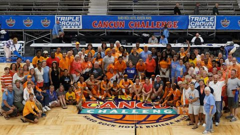 Tennessee Women's Basketball defeats South Dakota Saturday to win the Cancun Challenge. (Tennessee Athletics)