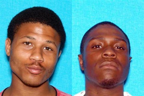 Clarksville Police are looking for (L) Timothy Hutcherson and (R) Dashaun Ramey in connection to a double shooting that took place on Beech Street Saturday night.