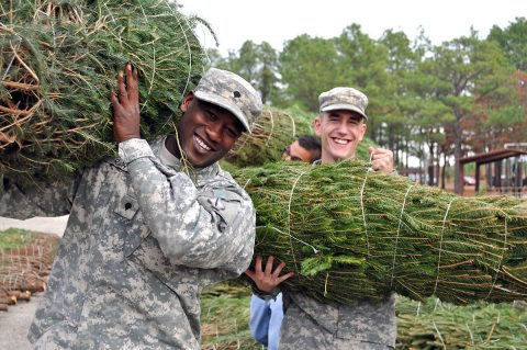 Trees For Troops to bring Christmas Trees to Fort Campbell soldiers on Saturday, December 8th. (Christmas SPIRIT Foundation)