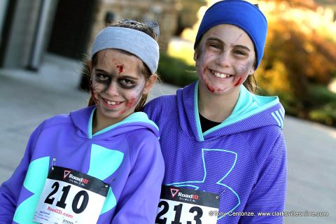 Clarksville Zombie Hunters hosts its annual Zombie Chase Race at Liberty Park.