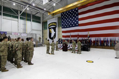 Over 60 Soldiers with the 129th Division Sustainment Support Battalion 101st Airborne Division (Air Assault) Sustainment Brigade are set to return to Fort Campbell the day after Christmas. (Spc. Alexes Anderson/ 101st SBDE Public Affairs Office)