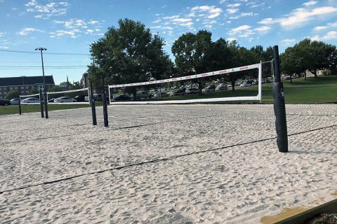Austin Peay Beach Volleyball has new outdoor courts for the 2018 Season. (APSU Sports Information)