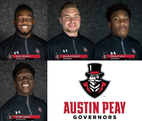 APSU Football's Jaison Williams, Jeremiah Oatsvall, Ahmaad Tanner and Kordell Jackson