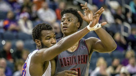 Austin Peay Men's Basketball comes up short at Evansville Purple Aces in overtime, 78-74. (APSU Sports Information)