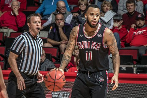 Austin Peay Men's Basketball loses to Western Kentucky 72-55 Friday night at the Dunn Center. (APSU Sports Information)