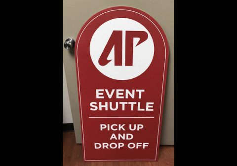 APSU Peay Pickup shuttle service sign
