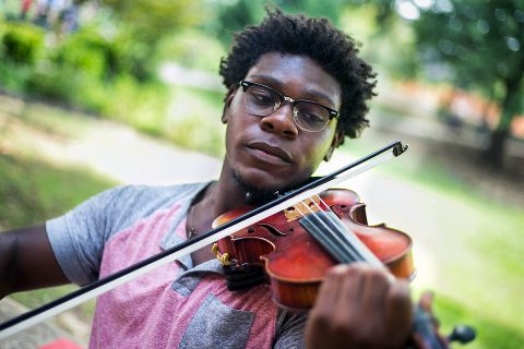Austin Peay State University Sophomore Elijah-Pharaoh Carter. (Cassidy Graves, APSU)