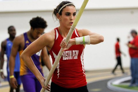 Austin Peay Women's Indoor Track and Field junior Savannah Amato tops the leaderboard in the pole vault at Saluki Fast Start, Saturday. (APSU Sports Information)