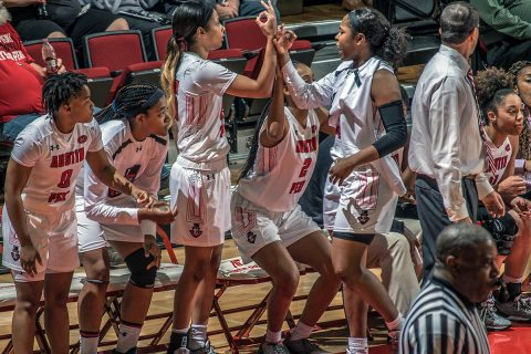 Austin Peay Women's Basketball put five game win streak on the line Saturday when it plays Evansville at the Dunn Center at 1:00pm. (APSU Sports Information)