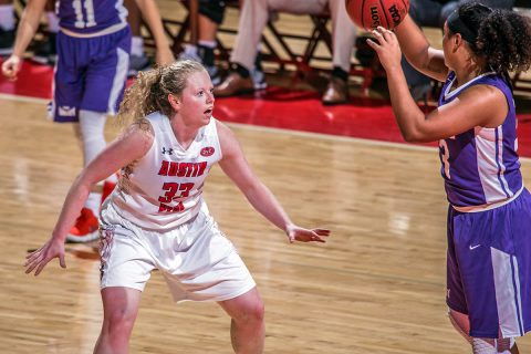 Austin Peay Women's Basketball guard Falon Baker scored 16 points including the game winner against Northern Kentucky Tuesday. (APSU Sports Information)