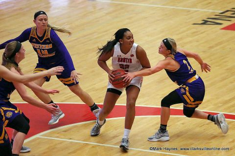 Austin Peay Women's Basketball falls to Illinois Fighting Illini Saturday afternoon, 59-47. (APSU Sports Information)