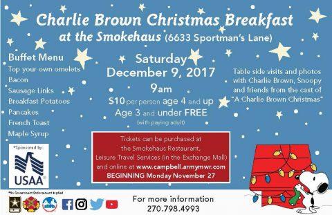 Charlie Brown Christmas Breakfast at the Smokehaus