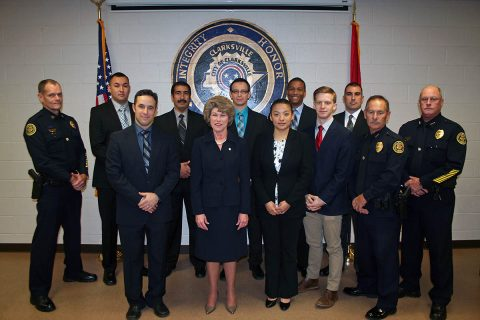 Eight Clarksville Police Department Cadets took their service oath on Friday.