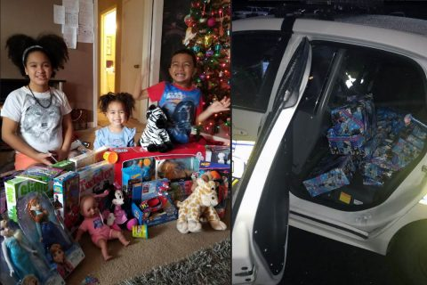 Clarksville Police Officers buy presents for family that was burglarized on Christmas Eve.