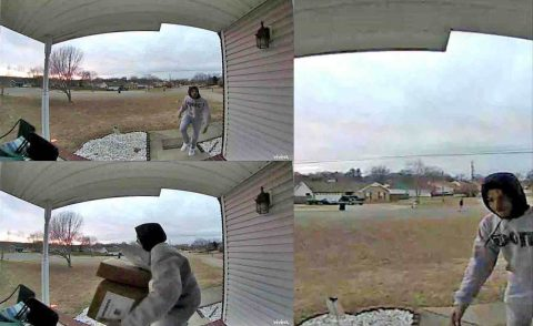 On December 15th, packages were stolen from a house off of Tobacco Road and Sandburg Drive.