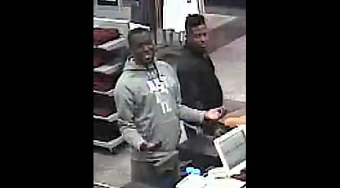 Clarksville Police are trying to identify the two people in this photo in connection with a Car Burglary and stolen credit cards.