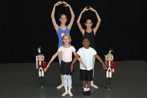 Clarksville Dancers selected for Nashville Ballet's Nashville's Nutcracker. Back row (L to R): Alanis Sassoon, Victoria Sassoon; Front row (L to R): Raeleigh Jones, Jeremiah West.