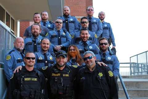 Montgomery County Sheriff's deputies take part in No-Shave November.