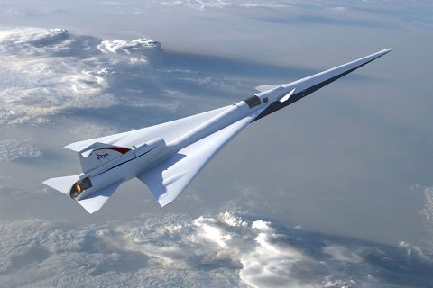 A preliminary design for NASA's planned Low Boom Flight Demonstration aircraft was approved in 2017. (NASA / Lockheed Martin)