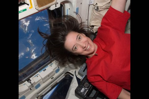Megan McArthur, NASA astronaut who serves on the advisory board for American Girl's new STEM-inspired character, says she always wants to encourage girls and boys to pursue their dreams, no matter how big. McArthur, seen here during a space shuttle mission, dreamed of being an astronaut since she was a teenager. (NASA)