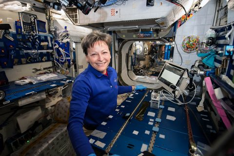 NASA astronaut Peggy Whitson performed the Genes in Space-3 investigation aboard the space station using the miniPCR and MinION, developed for previously flown investigations. (NASA)