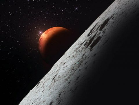 NASA is taking the first steps on its Journey to Mars. Artist's concept, looking toward Mars. (NASA)