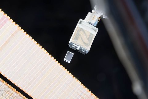 A JPL CubeSat named ASTERIA was deployed from the International Space Station on November 21. It will test the use of CubeSats for astronomy research. (NASA/JPL-Caltech)
