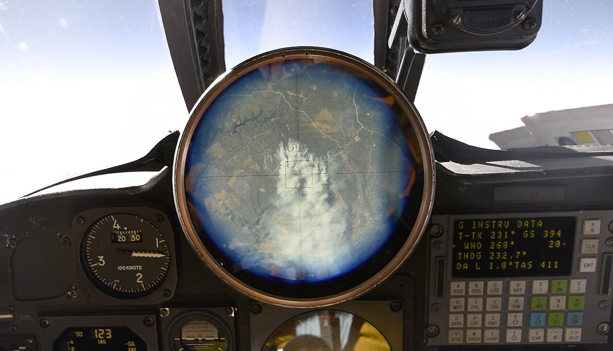 The Cockpit View Finder In The ER Shows A Controlled Fire - Altitude finder